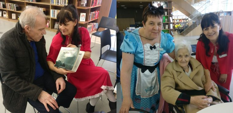 Care home marks World Book Day with library trip