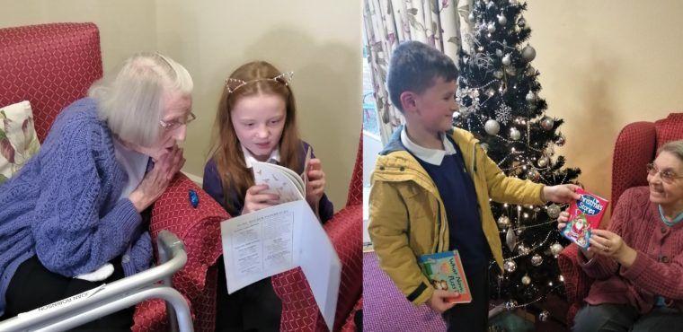 Pupils visit care home for World Nursery Rhyme Week