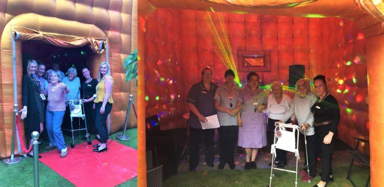 Inflatable nightclub a hit at Ellesmere Port care home