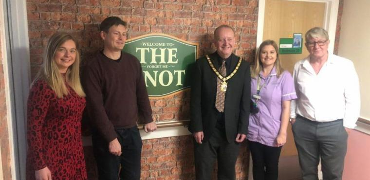 The Forget Me Knot pub opened at Ellesmere Port care home