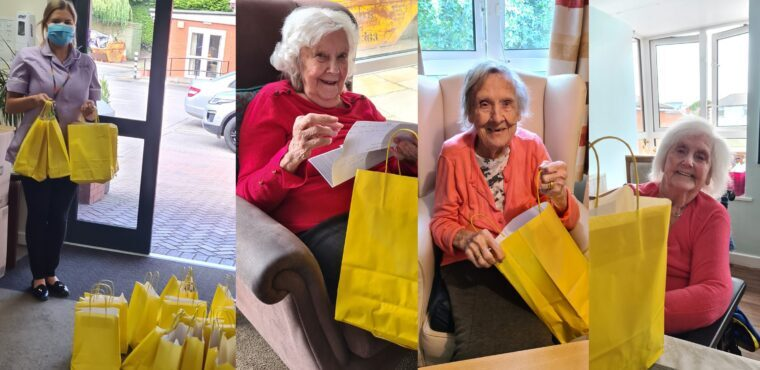 Pupils create goodie bags for care home residents