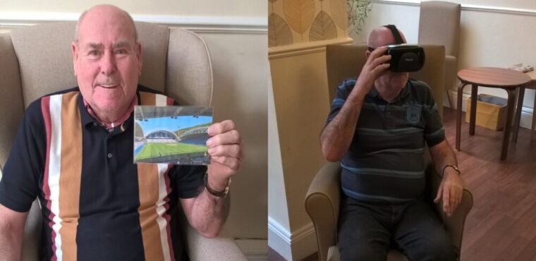 VR headset gives care home Terriers fan chance to see his beloved team
