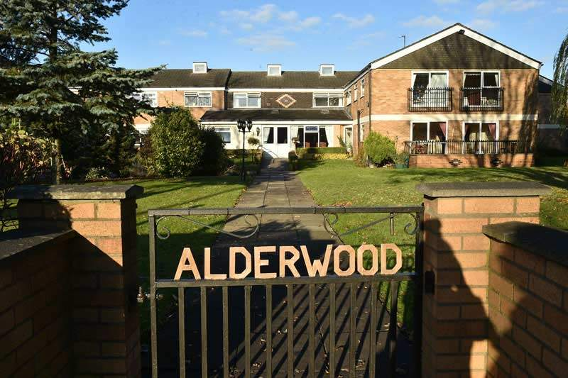 front view of alderwood care home in Manchester