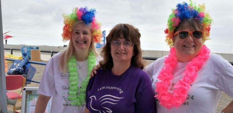 Colourful care home staff help at charity Colour Run