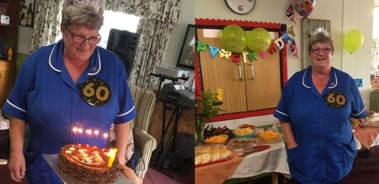 """Aunty"" Pat Boden celebrates her 60th with staff and residents"