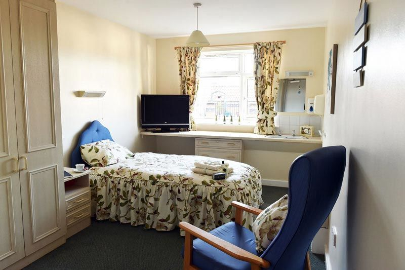 bedroom view at lever edge care home Bolton