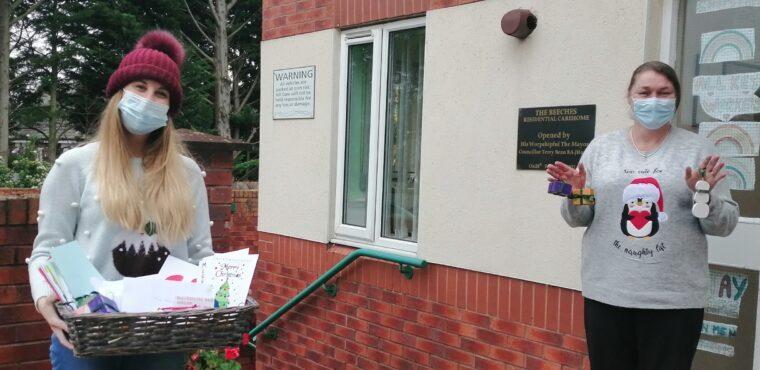 Students send Christmas package to elderly Teesside residents