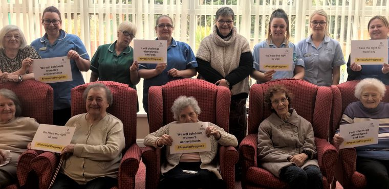 Care home's International Women's Day quiz