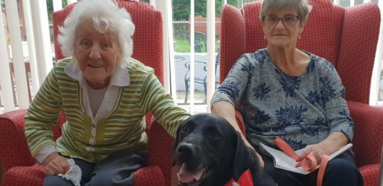 Pet pooch Ralph provides friendship for elderly
