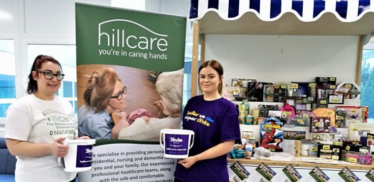 Hospital tombola helps care home raise funds for stroke survivors
