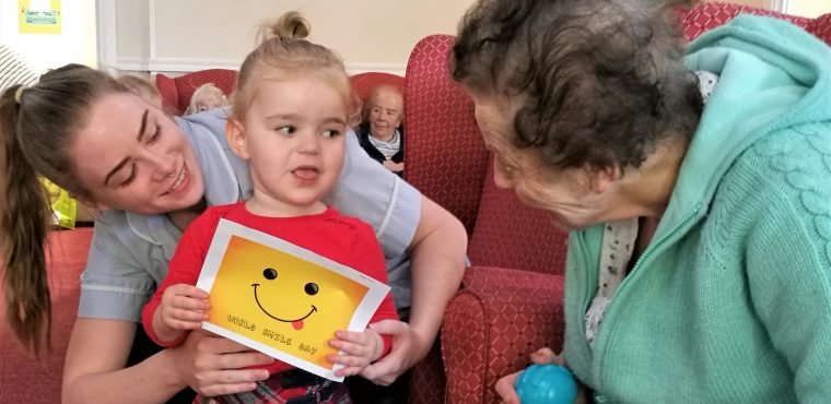 Big grins at Stockton care home on National Smile Day