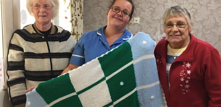 Knitters donate blankets to Thornaby's elderly