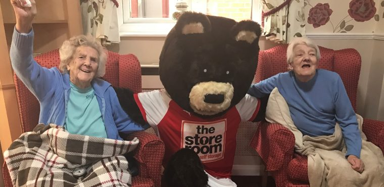 Miller Bear marks Hug a Bear Day at Rotherham care home