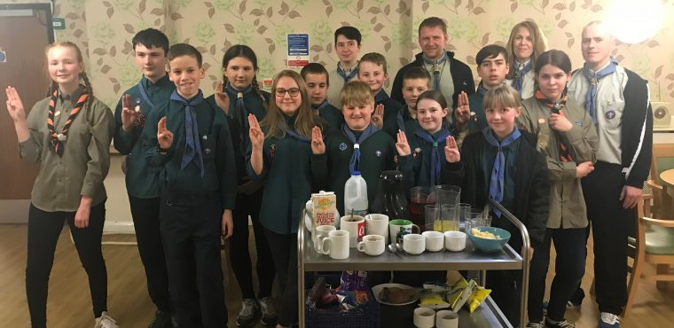 Scouts complete community badge at Rotherham care home