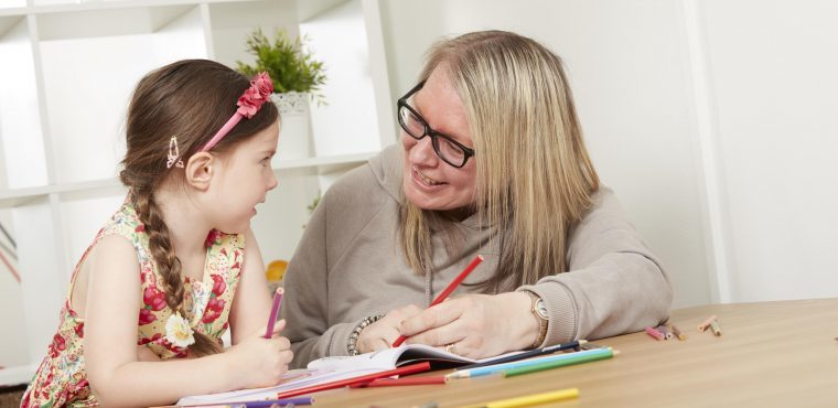 Foster children and elderly keep each other company