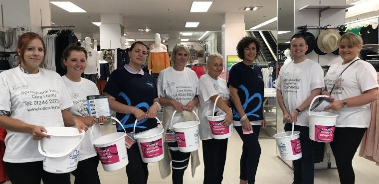Care home supermarket bag pack raises over £500 for charity