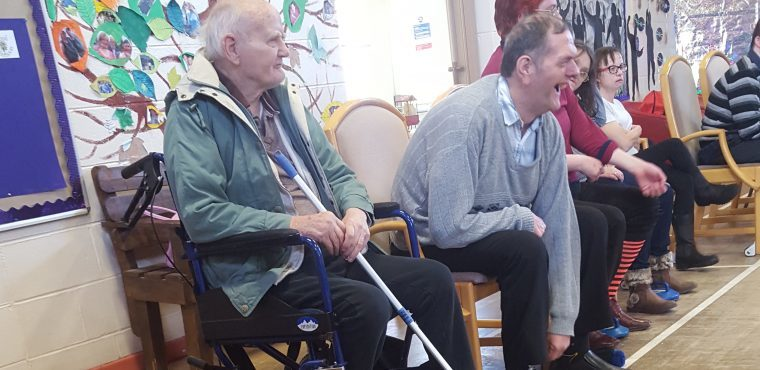 Curling care home residents compete before Winter Olympics