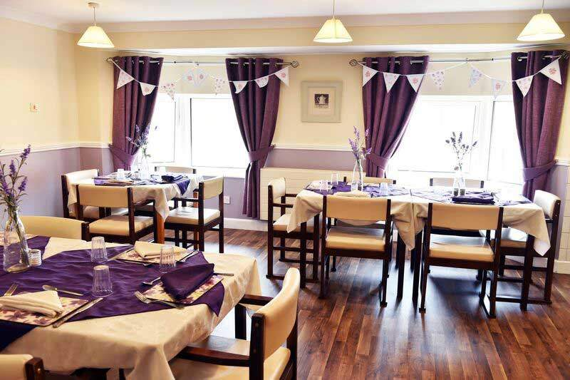 care home dining room Saltburn-by-the-sea