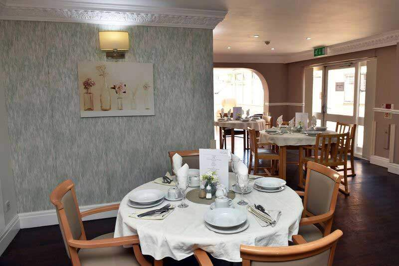 care home Huddersfield dining room
