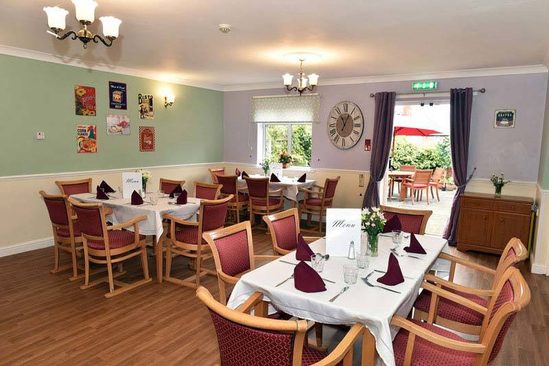 care home Nottingham dining area