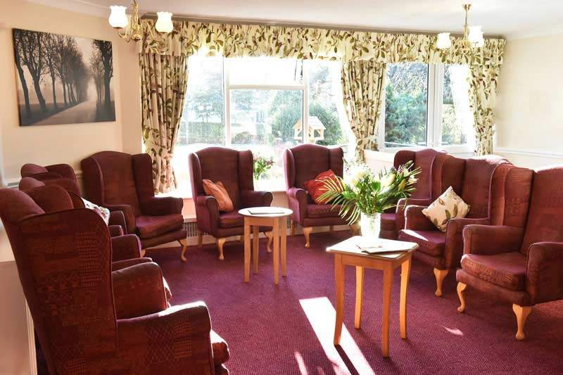sitting room of alderwood care home Worsley