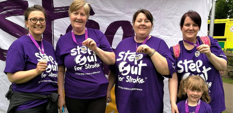 Care home staff Step Out For Stroke and raise hundreds