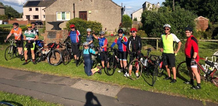 Conquering a cross border 100-mile cycle for Macmillan