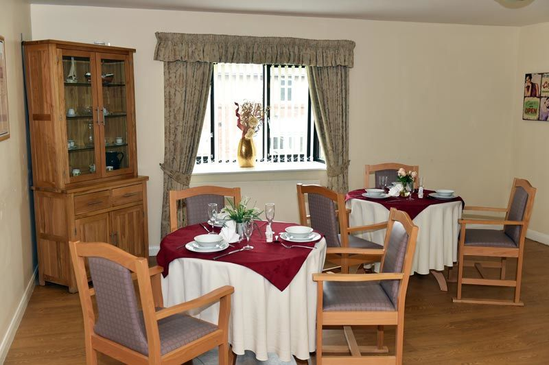 dining room Blyth care home in Northumberland