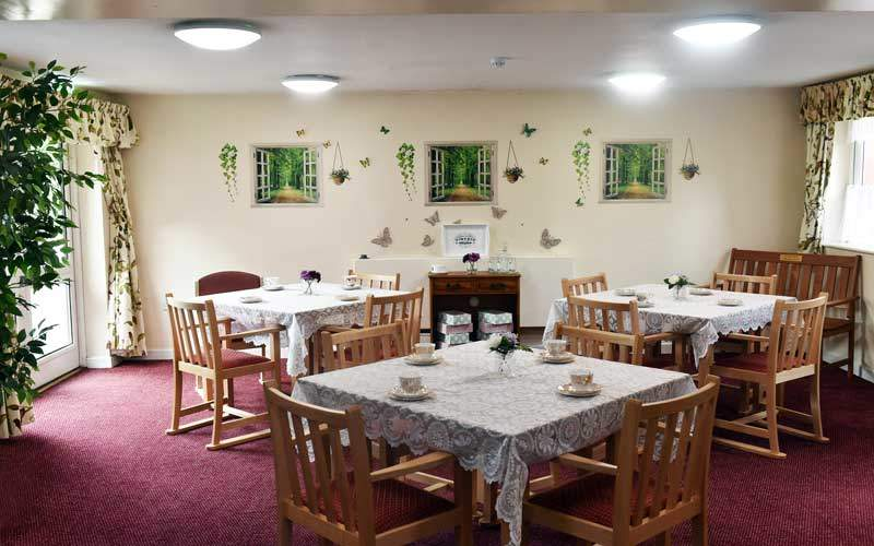 dining room care home Widnes Cheshire