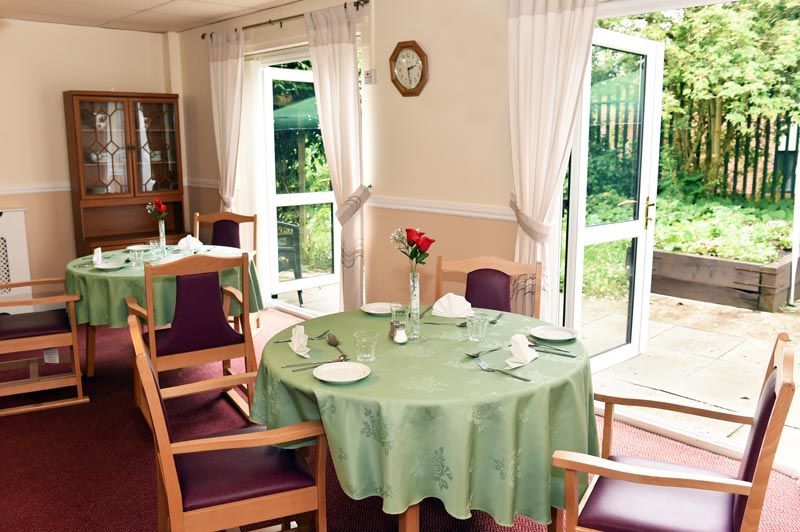 dining tables chairs dementia-care home Chester-le-Street
