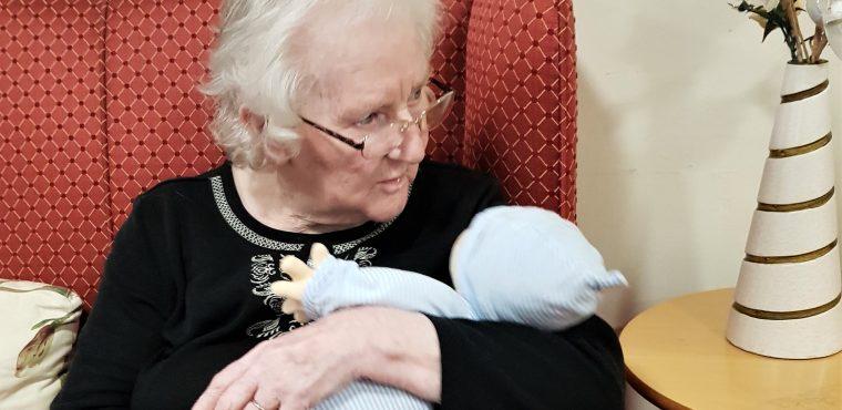 Empathy dolls help Hartlepool's elderly feel calm