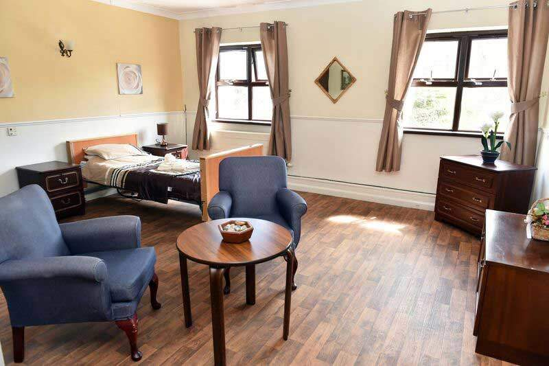 end of life care home cosy bedroom west yorkshire