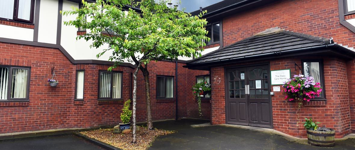 entrance view residential care home Blyth in Northumberland