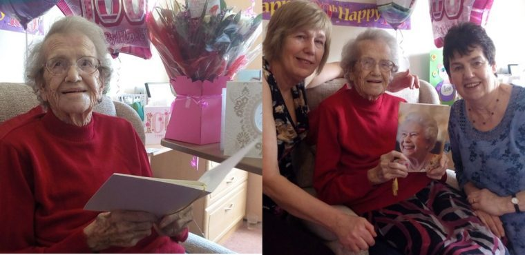 Florence celebrates her centenary with care home party