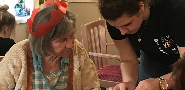Christmas card workshop for Teesside teens and elderly