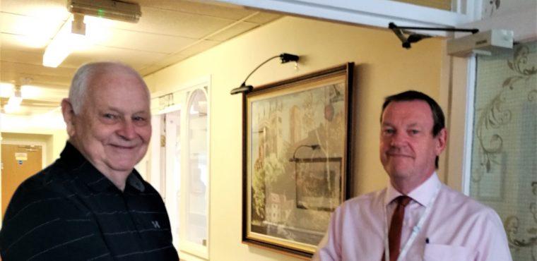 Wing naming honour for artist at Pelton Grange Care Home