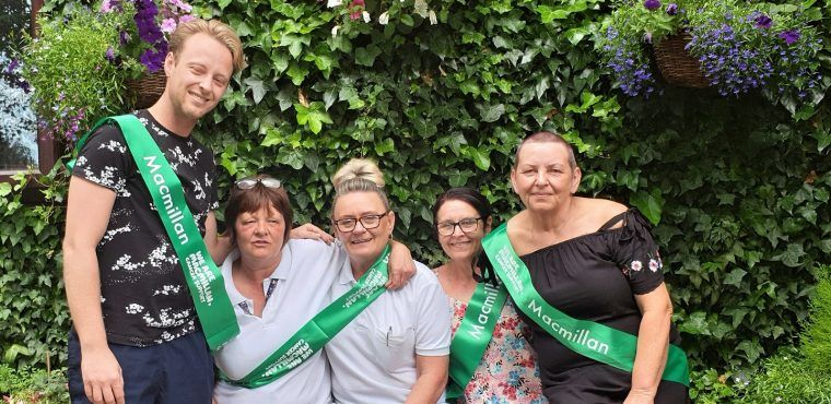 Care home's hair-raising activities for cancer charity