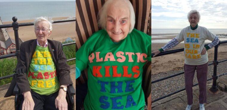 Elderly ocean activists raise awareness of plastic pollution