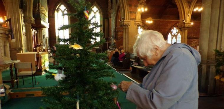 Seaside theme for Christmas tree dressing festival