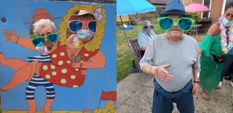 Care home celebrates with seaside summer party