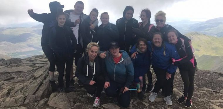 Simonsfield Care Home staff's £1,000 Snowdon climb