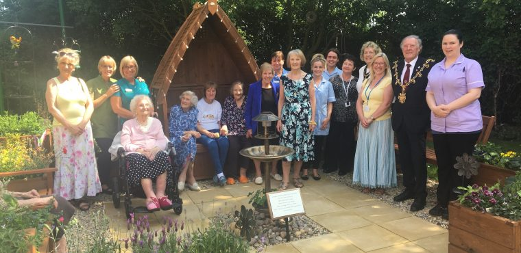 Mayor opens Ingleby Care Home's new garden café