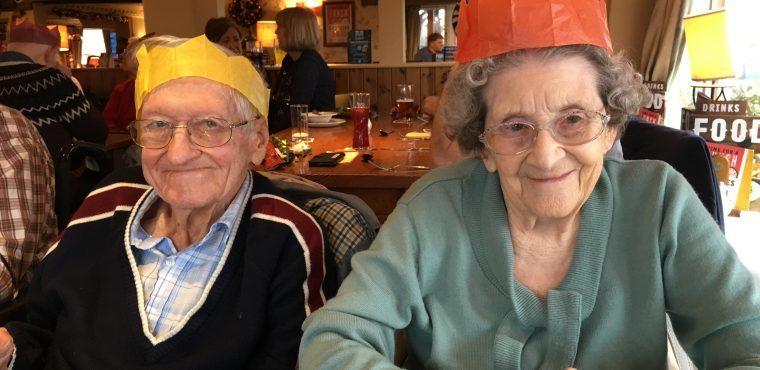 Carols and Christmas lunch get elderly in festive spirit