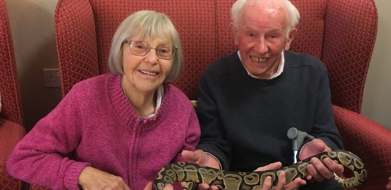 Reptiles and residents meet at Stockton care home