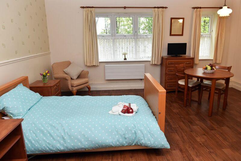 inside bedroom aden mount care home West Yorkshire