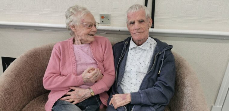 Teary reunion for care home couple married for over 60 years
