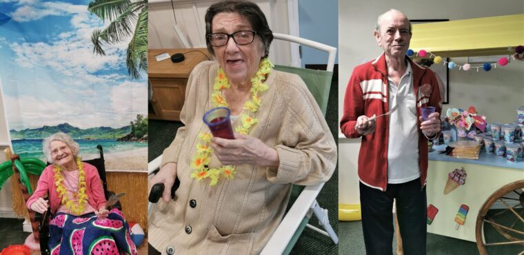 Beach party at Bolton care home