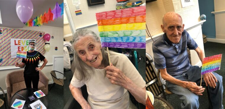 Bolton care home residents show support for Pride Month
