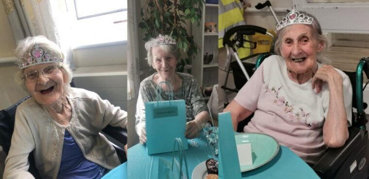 Afternoon tea at Tiffany's for queens of Bolton care home