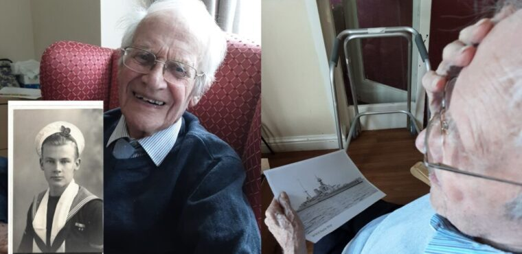 WW2 Royal Navy veteran George recalls his service on VE Day